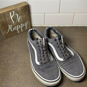 Gray Vans sneakers women's size 8